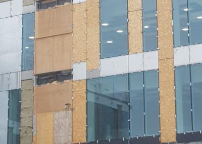 Interimsdør til byggeplads